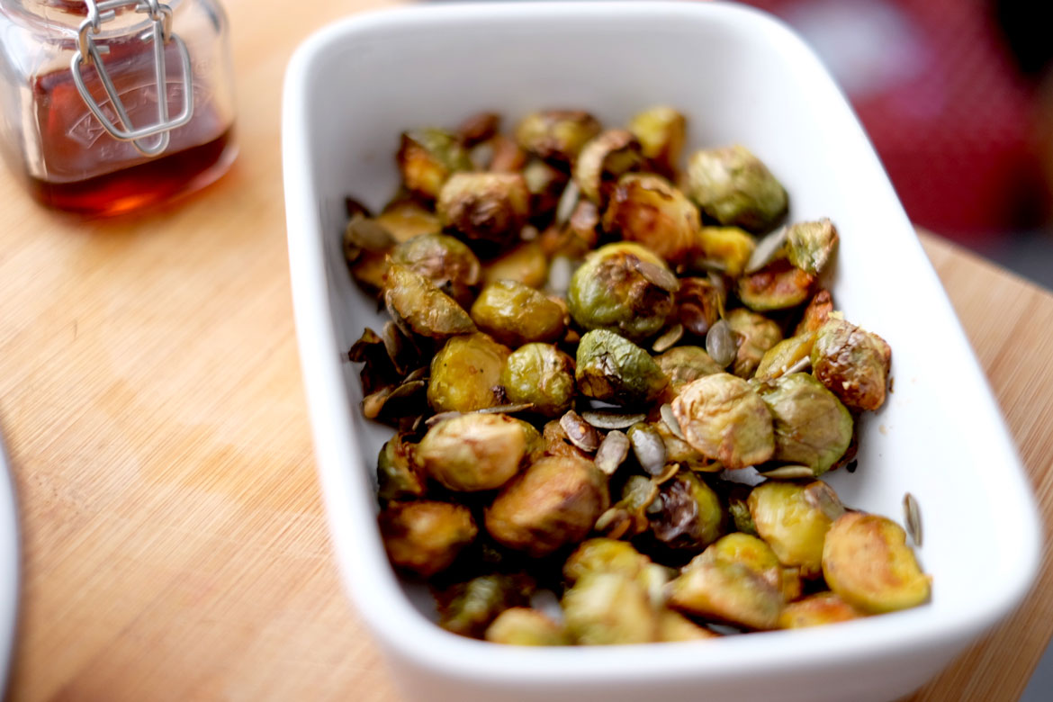 Maple roasted sprouts
