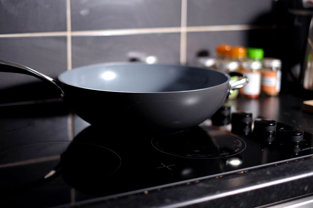 Greenpan wok on stove