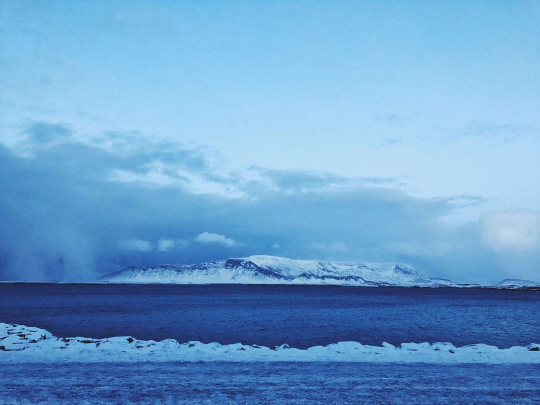 Reykjavik seafront view