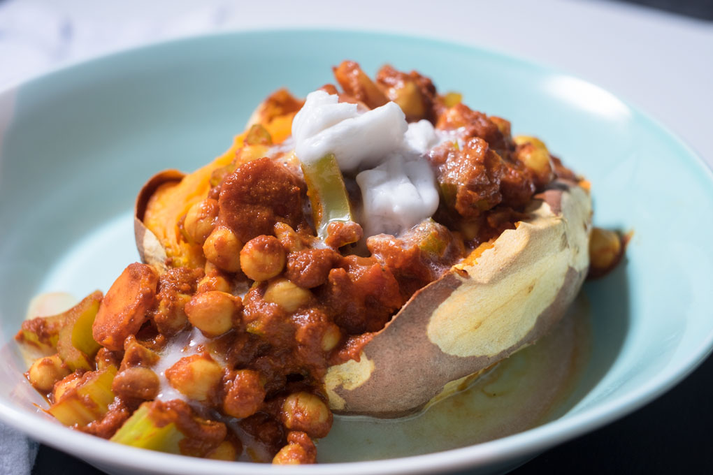 Easy chickpea chilli