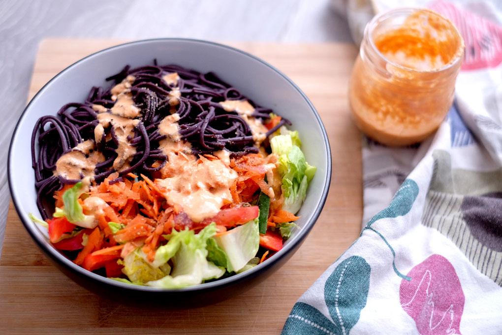 Vegan raw thai salad dressing everythings peachy raw thai vegan dressing recipe forumfinder Image collections