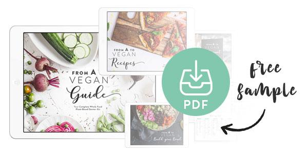 Vegan starter kit sample guide