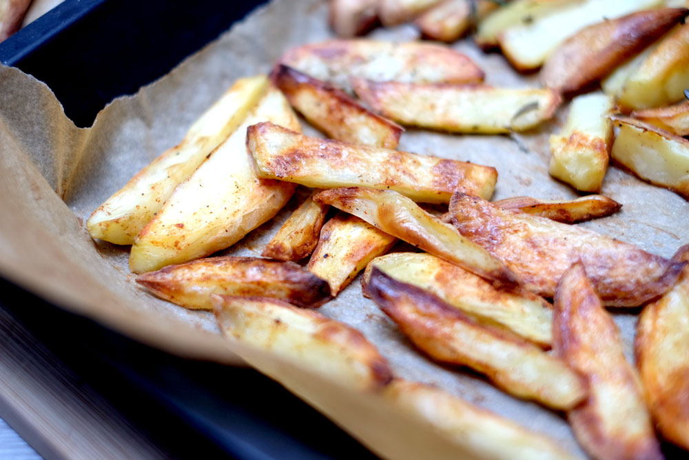 Baked fries no oil