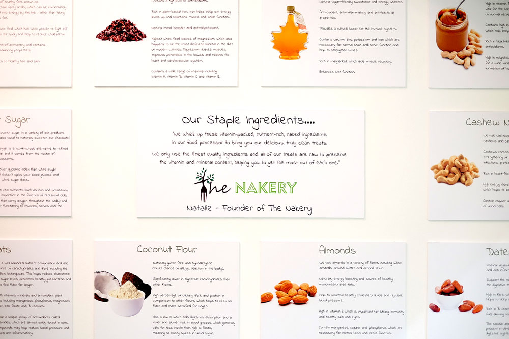 The Nakery staple ingredients