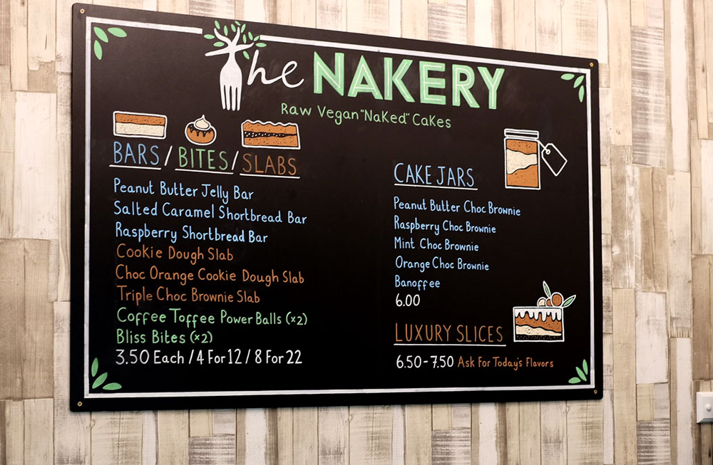 The Nakery menu