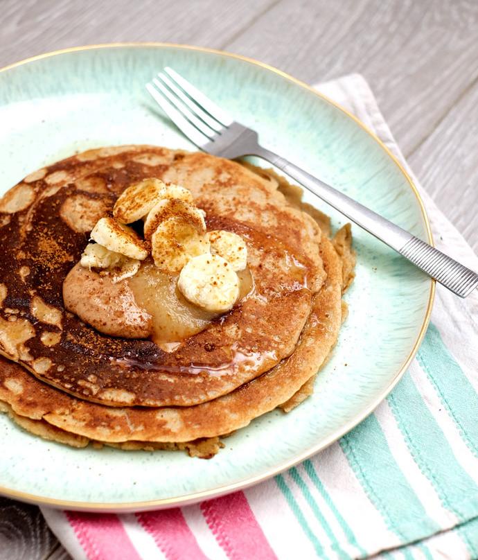 Vegan peanut butter pancakes