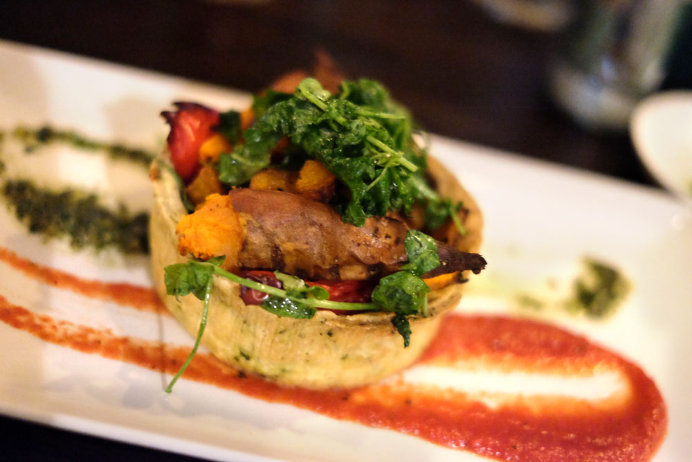 Vegan butternut squash tart