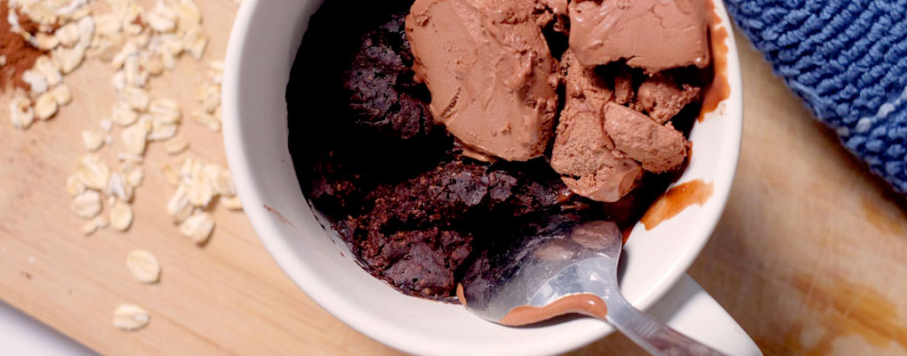 Chocolate mug cake no oil