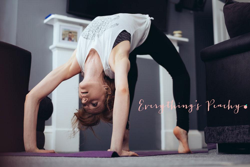 Crab yoga pose