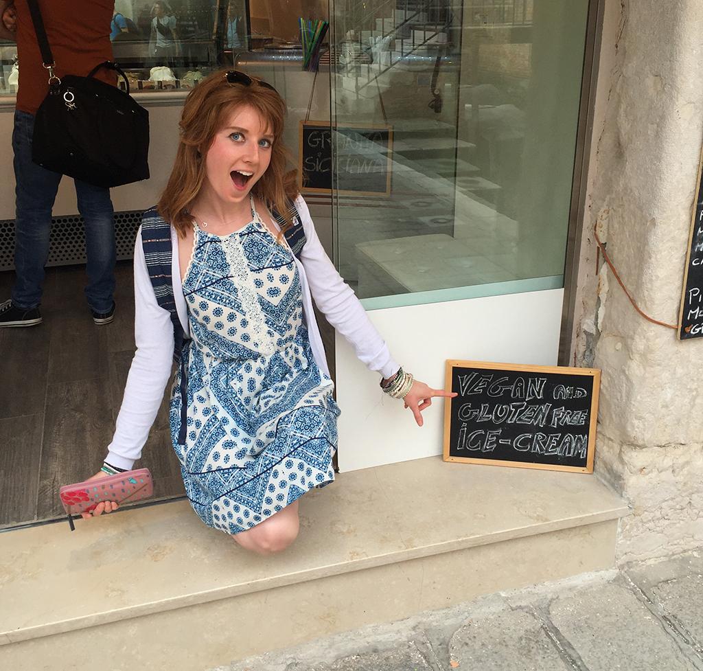 Vegan ice cream parlour in Venice