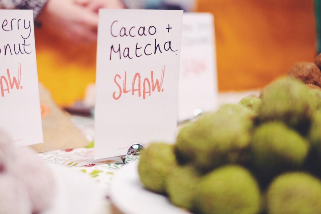 Slaaw matcha bliss balls