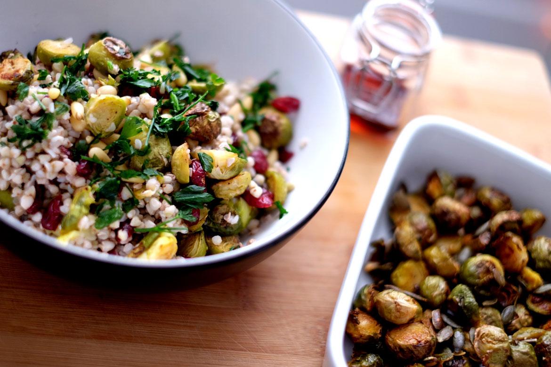 Warming festive salad