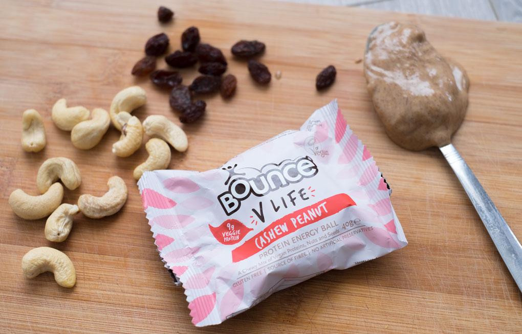 Bounce energy ball cashew peanut