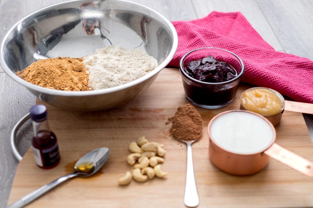 Beetroot cupcake ingredients