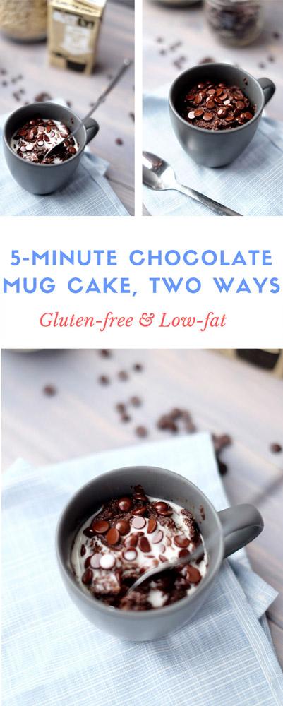 Vegan chocolate mug cake Pinterest