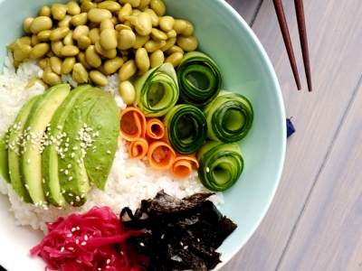 Vegan sushi bowl recipe