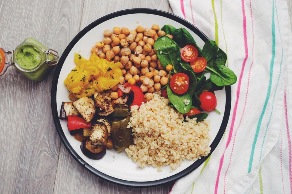 Easy vegan lunch idea