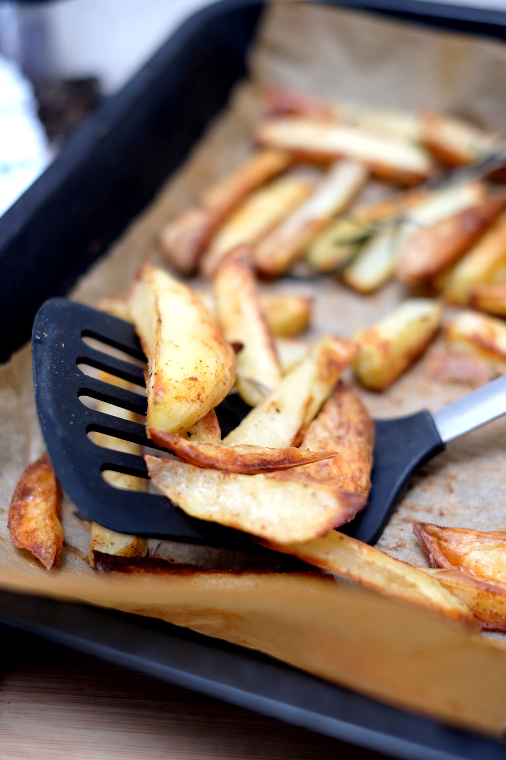 Oil free baked fries recipe