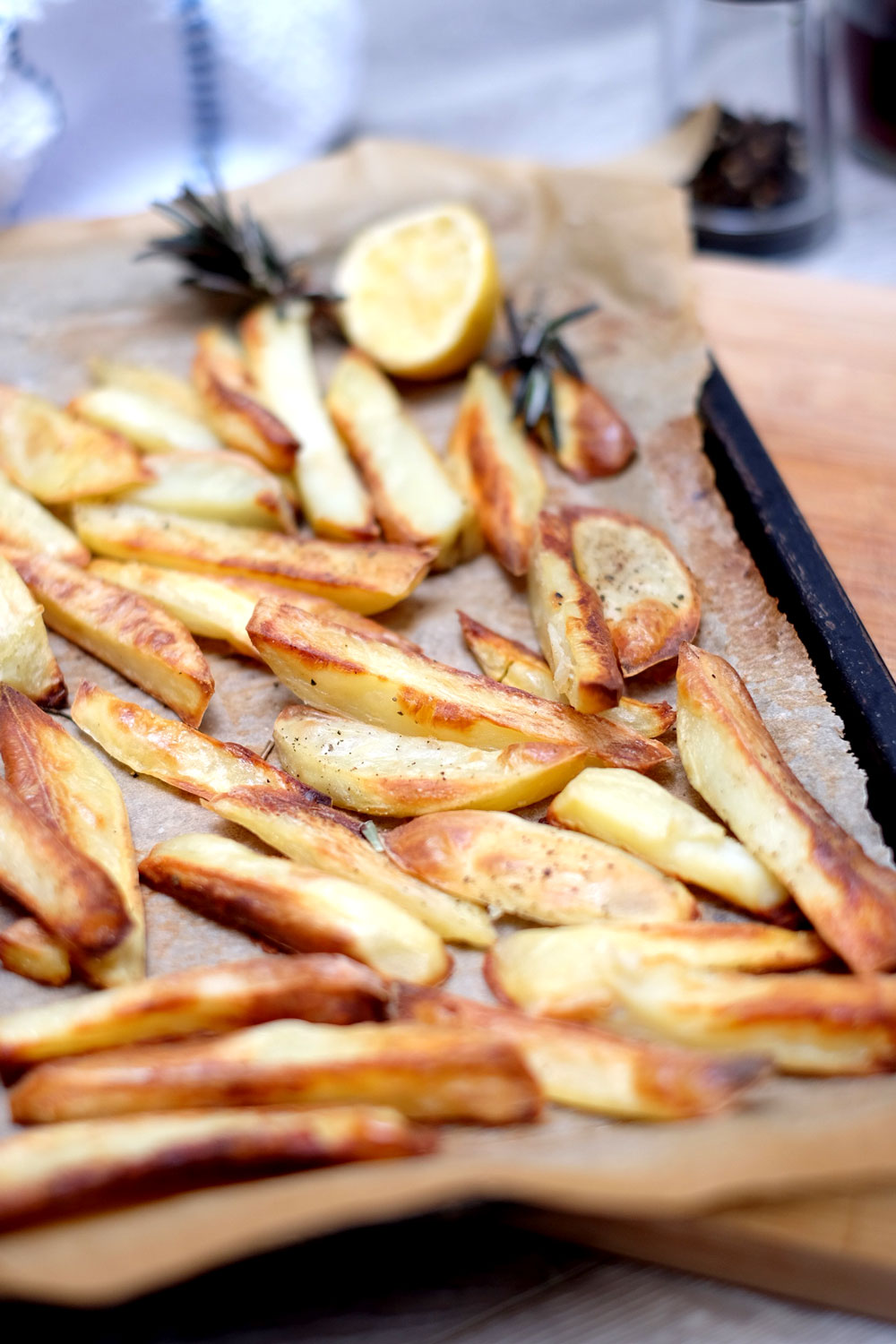 Crispy oil free fries