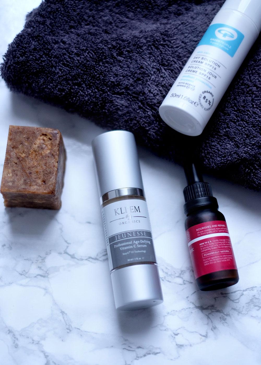 Minimal skincare routine