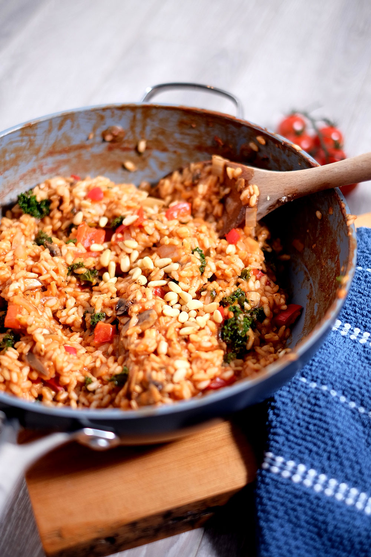 Tomato fennel risotto