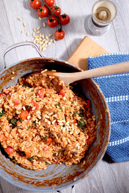 Vegan tomato risotto