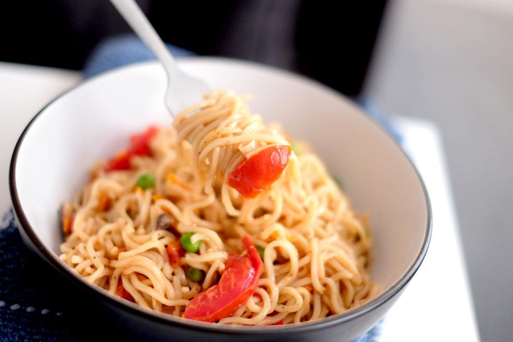 Homemade pot noodle recipe