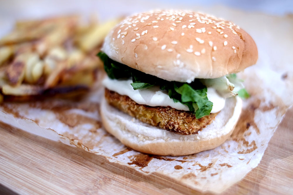 Vegan mcchicken sandwich