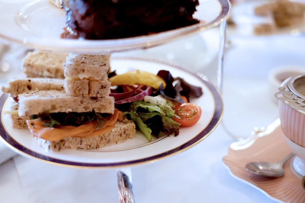 Vegan sandwiches and cake