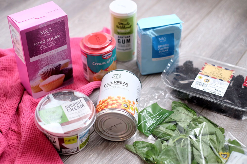 Vegan pavlova ingredients