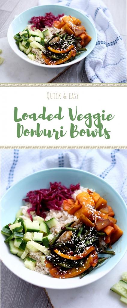 Vegan teriyaki donburi bowl