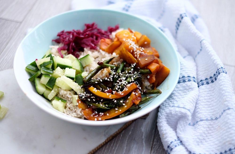 Vegan donburi bowl recipe