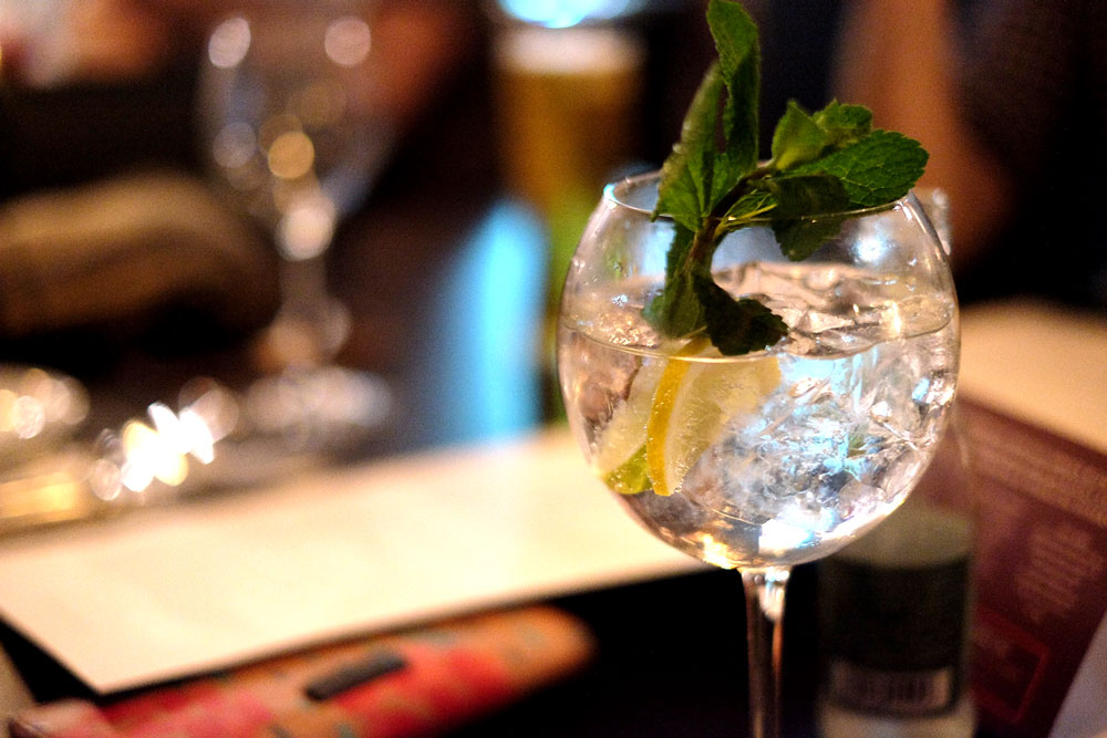 Non alcoholic gin & tonic