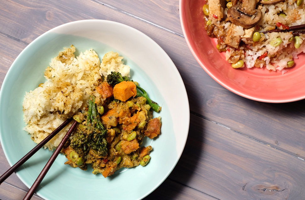 M&S vegan green Thai curry