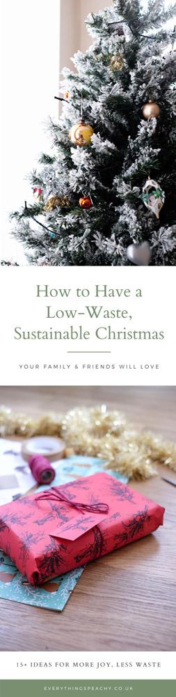 Sustainable Christmas tips Pinterest
