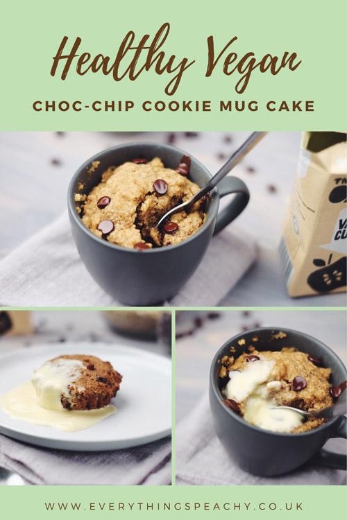 Vegan cookie mug cake pinterest