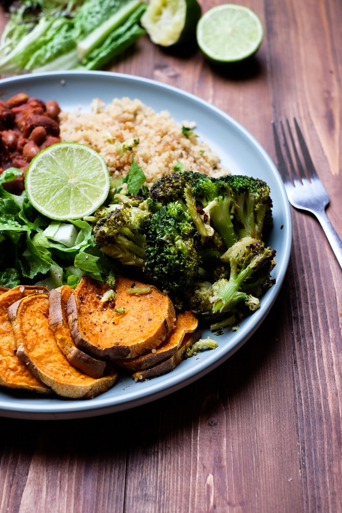 Vibrant plant-based plate