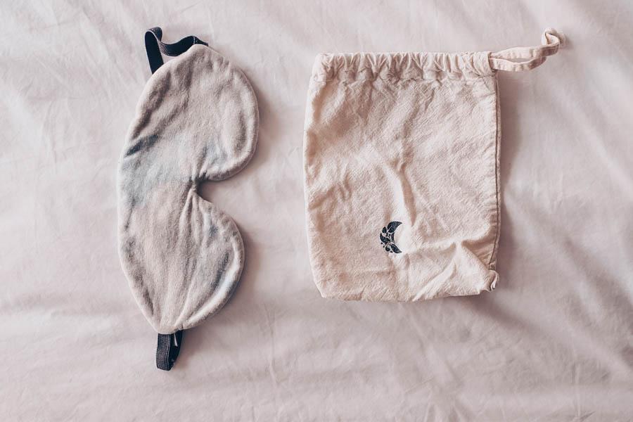 Sustainable cotton sleep mask